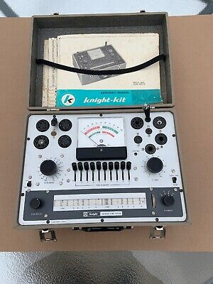 Vintage Knight KG-600B Vacuum Tube Tester With Manuals