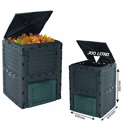 300L Garden Compost Bin Composter Eco Friendly Soil Rubbish Recycle Waste Large