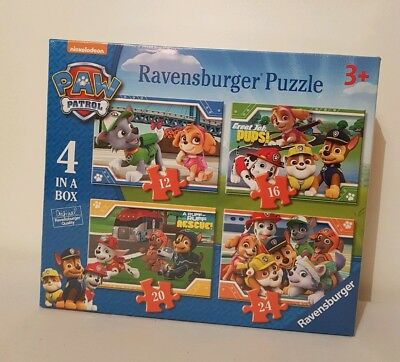 Ravensburger Jigsaw Puzzle - Paw Patrol - 4 in a Box - 06936 New