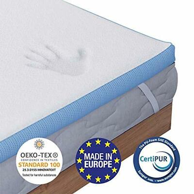 Orthopaedic Memory Foam Mattress Topper 180 x 200 cm (Super King), 5cm (2 inch)
