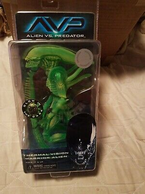 "NECA ALIENS WARRIOR-THERMAL VISION NEW /& RARE 7/"" FIGURE GLOW IN THE DARK"