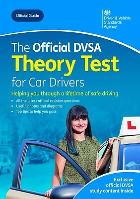 The official DVSA theory test for car drivers ~ Paperback Book ~ New ~ 2019
