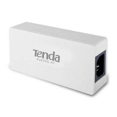 Tenda PoE30G-AT 30.6W High Power PoE AC Power Supply Charger Ethernet Ad C#P5