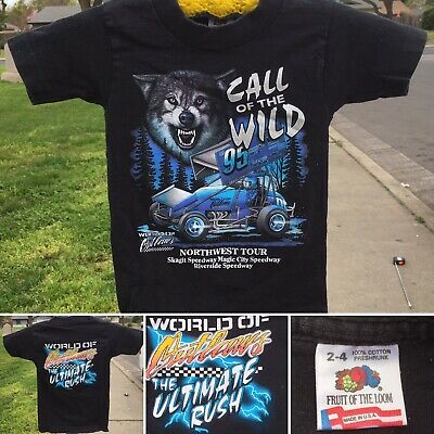 Vintage Call Of The Wild World Outlaws Northwest Tour T-Shirt Kids Toddler 2-4