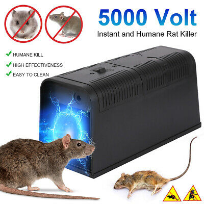 Electronic Mouse Trap Control Rat Killer Pest Mice Electric Rodent Zapper ❤