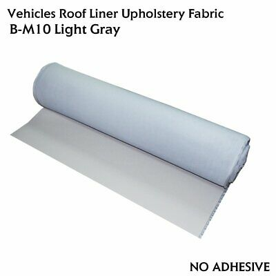 "Gray Headliner Sponge Fabric Car Upholstery Shed Sag Repair Replacement 60""x60"""