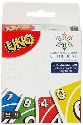 UNO Braille Card Game Target Exclusive Deck of Playing Cards Brand New Free Ship