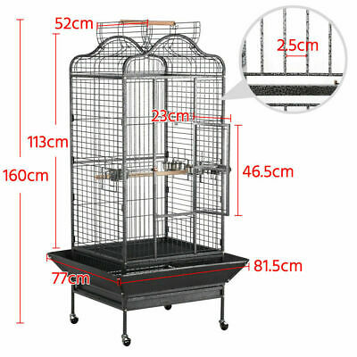 160cm Large Open Playtop Metal Rolling Parrot Bird Cage for Cockatiels Conure