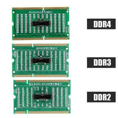 DDR2 DDR3 DDR4 Laptop SO-DIMM RAM Test Card Memory Tester Analyzer with LED SPG
