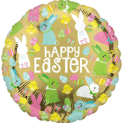 Gold Happy Easter Balloon Standard Size Foil