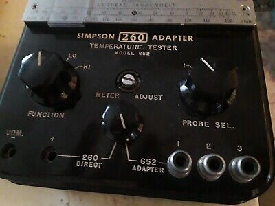 SIMPSON 260 Temp tester adapter  model 652  Untested as is