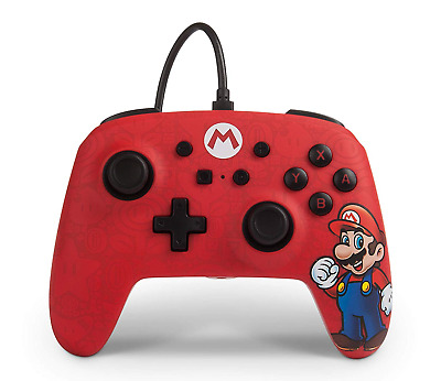 Enhanced Wired Controller For Nintendo Switch - Mario
