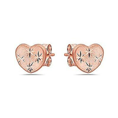 Many Variations and Colors Available Pori Jewelers 14K Solid Gold Heart Stud Earrings-with Real 14K Gold Butterfly Backings