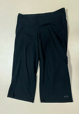 Champion Womens Black Loose Fit Cropped Capri Legging sz S