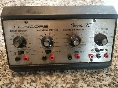 Vintage Sencore Handy 75 Model RC146 Resistor Capacitor Substitution Box