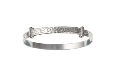 Baby Bangle Solid Silver Christening 18 months - 3 Yrs Sterling silver Bracelet