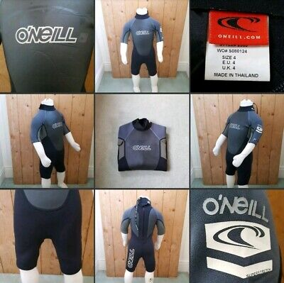 *Used* Lovely Kids Thin Wetsuit Shortie ▪O'NEILL▪ Size 4~Grey~Watersport & Beach