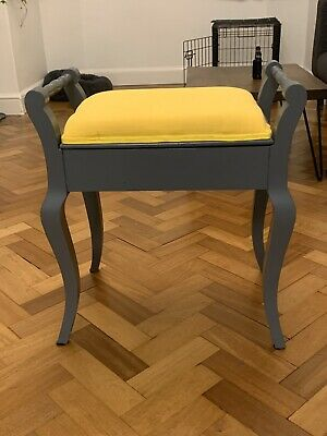Victorian Antique Stool With Storage - Up Cycled