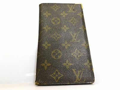 Louis Vuitton Monogram Long Wallet Bill Bi Fold Cover Card Case Purse Auth