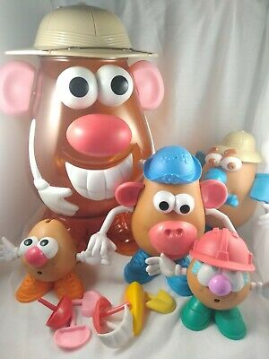 Mr Potato Head Large Container With Family of Four Potato Heads Safari Zoo