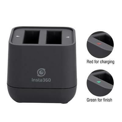 Black 9V Battery Charger Dual Slot Charging Box for Insta360 One X Sports Camera
