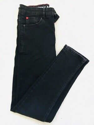Boys Skinny Jeans - Age 12 years - Black - Good Condition - Adjustable Waist.