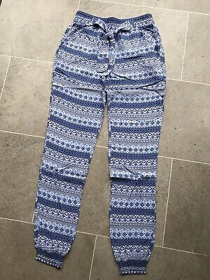Girls Loose Trousers With Elasticated Waist & Ankles. Age 12-13 Years
