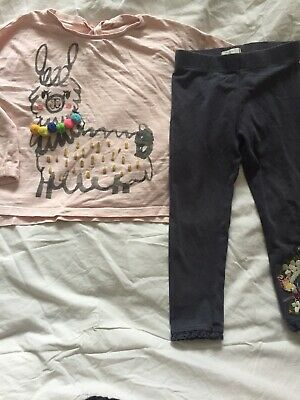 Girls Age 2-3 Next Top And Leggings Set