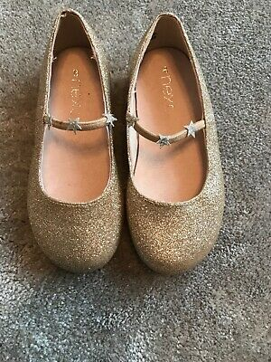 Next Girls Gold Party Shoes, Inf Size 8