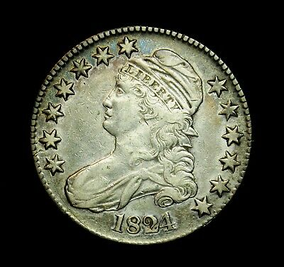 1824 Capped Bust Half Dollar A19