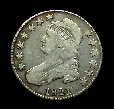 1821 Capped Bust Half Dollar A21