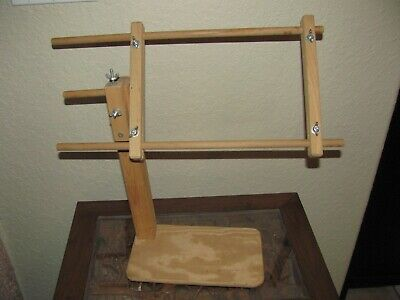 Cross Stitch Needle Point Adjustable Stand Stretcher Excellent Condition