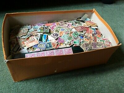 1000 old world stamps taken from large shoe box