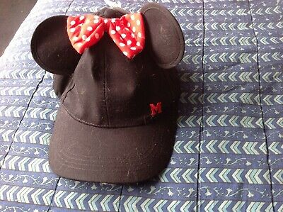 Disney Minnie Mouse hat with ears primary one size new