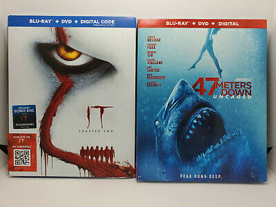 It Chapter Two + 47 Meters Down Uncaged (Blu-ray+DVD+Digital Copy+Slip Cover)