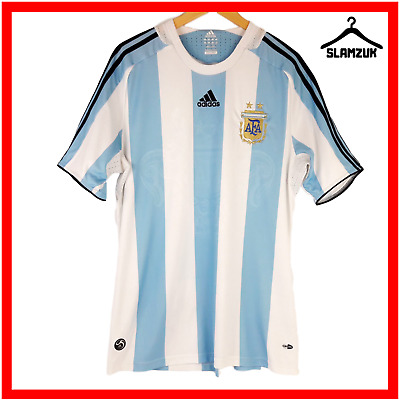 Argentina Football Shirt Adidas L Large Home Soccer Jersey AFA 2007 2009