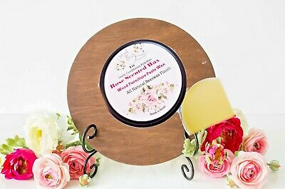 Rose Scent All Natural WAX 4 oz Beeswax Wood or Bare & Painted Furniture Polish