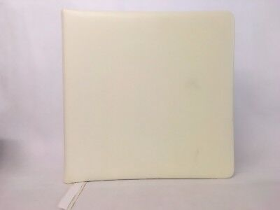 Aspinal of London White Leather Album with Cream Pages. 13.5 inches.