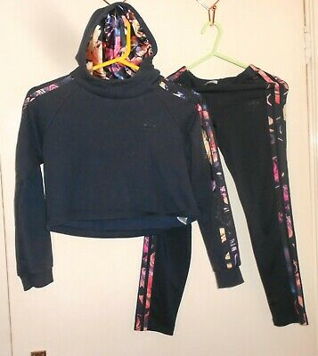 Girls Adidas Tracksuit Age 9-10 Years fab floral stripes