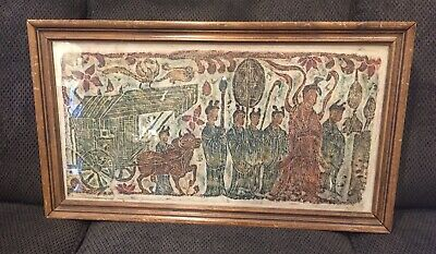 Ancient Antique Chinese Scroll Of Spirits Of Tombs On Rice Paper Signed Seal