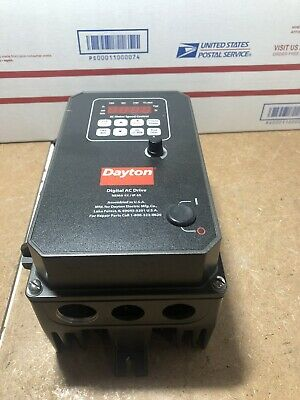 DAYTON Digital AC Drive Nema 4X / IP 65 Motor Speed Control 13E654 1HP 3-Phase