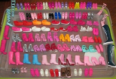 Barbie Doll Shoes Lot_70 Pairs_Multicolor Footwear_High Heels_Ballet_Sandals +