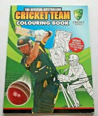 2013 The Official Australian Cricket Team Colouring Book - Cricket Australia