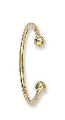Solid Yellow Gold Torque Baby Bangle hallmarked Christening Gift