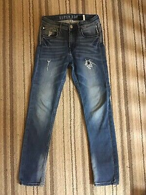 Boys Super Soft Jeans Skinny Stretch Distressed Look 11 - 12 Years H&M