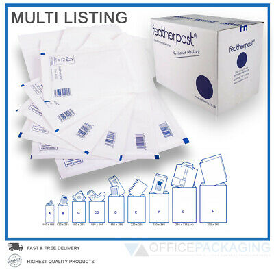 Featherpost Padded Bubble Envelopes Bags Jiffy - Quality Mailers Various Sizes