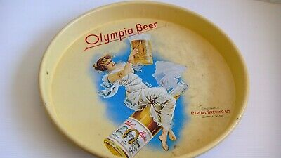 Vintage Olympia Beer round tray Capital Brewing Co Olympia Wash - used condition