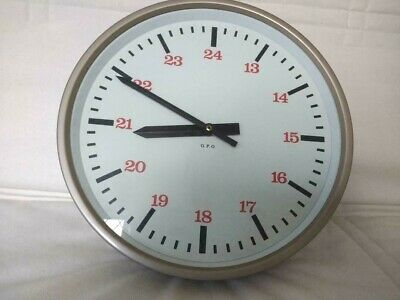 SYNCHRONOME GPO TELEPHONE EXCHANGE POST OFFICE WALL CLOCK 240v Mains,