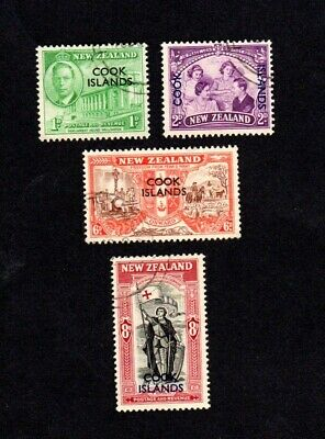Cook Islands GVI 1946 Peace issue used