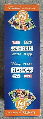 Sainsburys Heroes Cards full Box 180 Packs Disney Marvel